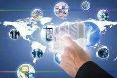 Immagine composita dell'uomo d'affari che gesturing 3D Fotografia Stock Libera da Diritti