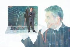 Immagine composita dell'uomo d'affari di pensiero Immagine Stock Libera da Diritti