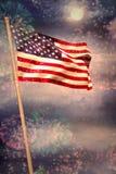 Immagine composita della bandiera nazionale americana digitalmente generata illustrazione di stock
