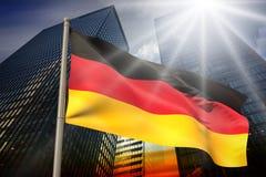 Immagine composita della bandiera nazionale della Germania Fotografie Stock Libere da Diritti