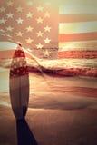 Immagine composita della bandiera nazionale digitalmente generata degli Stati Uniti royalty illustrazione gratis