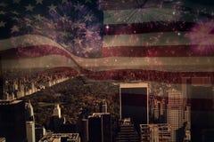 Immagine composita della bandiera nazionale digitalmente generata degli Stati Uniti illustrazione vettoriale