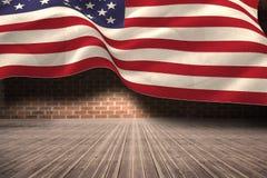 Immagine composita della bandiera nazionale digitalmente generata degli Stati Uniti illustrazione di stock