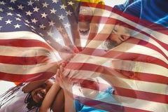 Immagine composita della bandiera nazionale digitalmente generata degli Stati Uniti Fotografia Stock