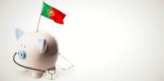Immagine composita della bandiera nazionale digitalmente generata del Portogallo royalty illustrazione gratis