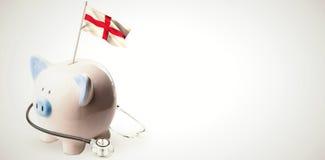 Immagine composita della bandiera nazionale digitalmente generata dell'Inghilterra illustrazione di stock