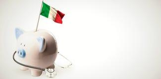 Immagine composita della bandiera nazionale digitalmente generata dell'Italia illustrazione di stock