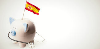 Immagine composita della bandiera nazionale digitalmente generata della spagna royalty illustrazione gratis