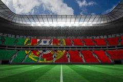 Immagine composita della bandiera nazionale portugese digitalmente generata illustrazione vettoriale