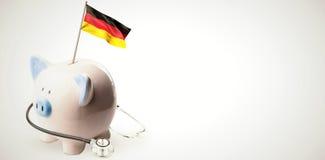 Immagine composita della bandiera nazionale tedesca digitalmente generata illustrazione di stock