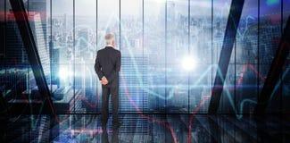 Immagine composita della condizione dell'uomo d'affari Immagine Stock