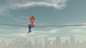 Immagine composita della donna Fotografie Stock Libere da Diritti