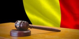Immagine composita della fine su del martelletto sulla tavola Immagini Stock Libere da Diritti