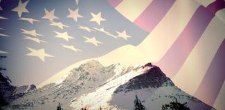 Immagine composita della fine su del noi bandiera illustrazione vettoriale