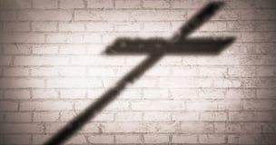 Immagine composita della fine su dell'incrocio di legno 3d Immagini Stock