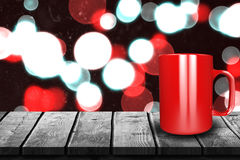 Immagine composita della fine su della tazza rossa 3d Fotografie Stock