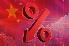 Immagine composita della freccia di percentuale Immagine Stock