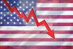 Immagine composita della freccia rossa che indica su Immagine Stock Libera da Diritti
