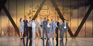 Immagine composita della gente di affari Fotografie Stock Libere da Diritti
