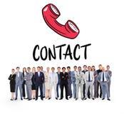 Immagine composita della gente di affari che sta su Fotografia Stock Libera da Diritti