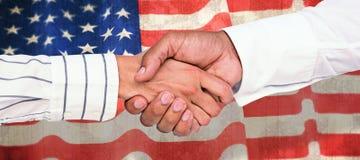 Immagine composita della gente di affari che stringe le mani Fotografie Stock Libere da Diritti