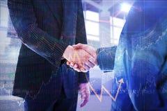 Immagine composita della gente di affari che stringe le mani Fotografie Stock