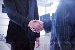 Immagine composita della gente di affari che stringe le mani Immagine Stock Libera da Diritti