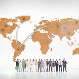 Immagine composita della gente di affari multietnica che sta parallelamente Immagini Stock Libere da Diritti