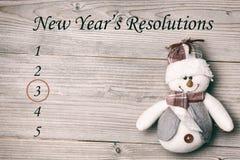 Immagine composita della lista di risoluzione dei nuovi anni fotografia stock
