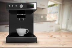 Immagine composita della macchina nera della macchinetta del caffè Immagini Stock