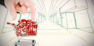 Immagine composita della mano che mostra casa Fotografia Stock