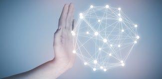Immagine composita della mano potata che gesturing 3d Immagini Stock