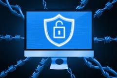 Immagine composita della serratura 3d Immagini Stock