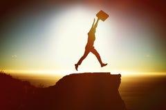 Immagine composita della siluetta dell'uomo d'affari fotografia stock libera da diritti