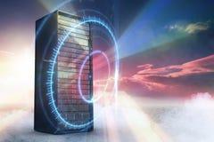 Immagine composita della torre 3d del server Immagini Stock Libere da Diritti