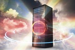 Immagine composita della torre 3d del server Fotografia Stock