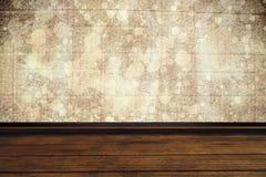 Immagine composita della vista dell'angolo alto della pavimentazione di legno Fotografia Stock Libera da Diritti