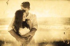 Immagine composita delle coppie amorose che stringono a sé Fotografia Stock Libera da Diritti