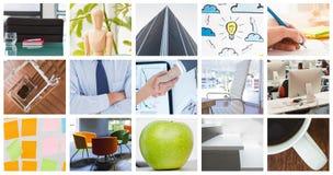 Immagine composita delle donne di affari che raggiungono un accordo Immagine Stock