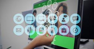 Immagine composita delle icone dei apps dello smartphone Fotografie Stock