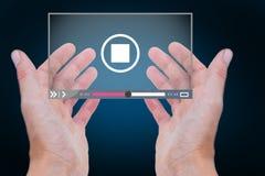 Immagine composita delle mani che mostrano 3d Immagini Stock Libere da Diritti