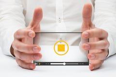 Immagine composita delle mani che tengono 3d Immagine Stock Libera da Diritti