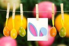 Immagine composita delle orecchie del coniglietto di pasqua Fotografie Stock