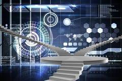 Immagine composita delle scale elicoidali Immagini Stock