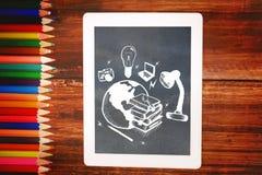 Immagine composita dello scarabocchio globale di istruzione Fotografia Stock Libera da Diritti