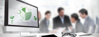 Immagine composita dello schermo di computer Fotografia Stock