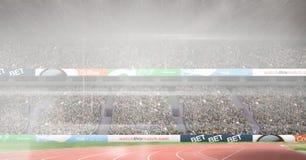 Immagine composita dello stadio di atletica Immagine Stock