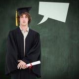 Immagine composita dello studente in abito laureato Fotografia Stock Libera da Diritti