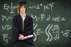 Immagine composita dello studente in abito laureato Fotografie Stock