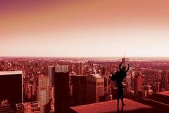 Immagine composita di allungamento della ballerina Immagini Stock